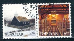 Faroë 1997: Scott # 328-329: O/Used Se-Tenant Cpl. Set