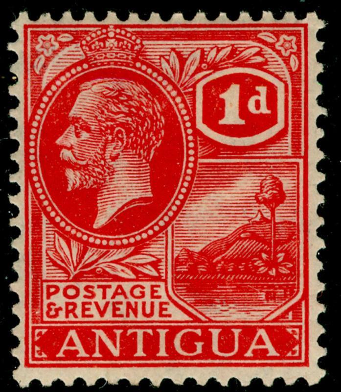 ANTIGUA SG65, 1d brt scarlet, LH MINT. Cat £40.