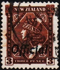 New Zealand. 1936 3d(Official) S.G.O125  Fine Used