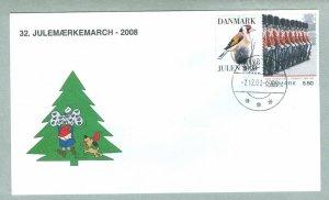Denmark. Cover Cachet. # 32  Christmas Seals Walk 2008. 5.50 Kr. Nykobing M.