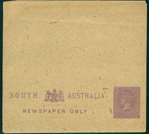 Australia South Australia QV 1885 ½d dull-purple newspapers only wrapper (1 Mint
