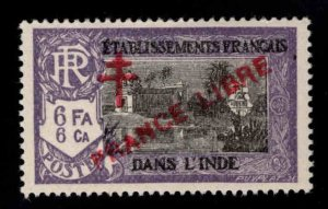 FRENCH INDIA  Scott 171 MH* France Libre  overprint