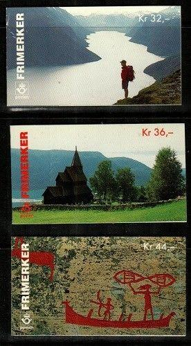 Norway Scott 1119a-21a Mint NH booklets (Catalog Value $42.00)