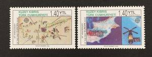 Turkish Republic of Northern Cyprus 2006 #606-7, Europa 50th Anniversary, MNH.