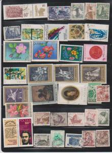 LOT OF DIFFERENT STAMPS OF POLAND USED (36) LOT#130