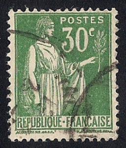 France #264 30C Peace with Olive Branch Stamp used F