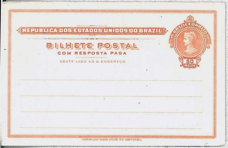 BRAZIL -  POSTAL STATIONERY : RHM MEYER# BP79 Type II - not quoted!! RARE!