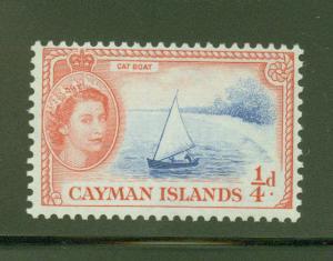 Cayman  Scott 135 QE2 Cat Boat stamp 1953 MH* CV $1.25