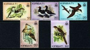 KIRIBATI 1983 QE II Complete O.K.G.S. Overprint Set SG O36 to SG O40 MNH