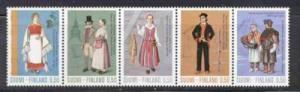 Finland Sc518-22 1972 Costumes stamp set  NH