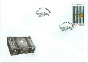 SLOVAKIA / 2017, (FDC) Tribute to victims of the Holocaust, MNH