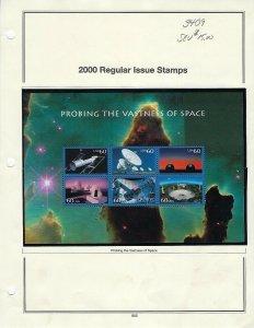 3409-3413 SPACE ACHIEVEMENTS & EXPLORATION SET OF SHEETS - SCV $135.00- W6