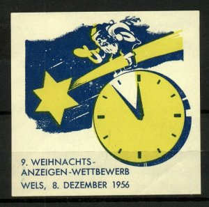 Germany 1956 Christmas Show Competition Label