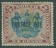 North Borneo SC#J8 (SG#D11) Coat of Arms 24c Overprinted, MH