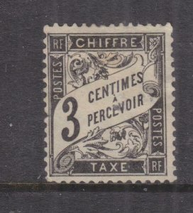 FRANCE, POSTAGE DUE, 1882 3c. Black, mint no gum.