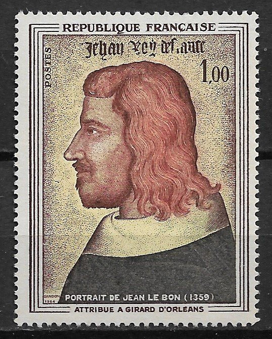 1964 France 1084 John the Good of Orlean MNH