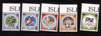 Isle of Man Sc  615-19 1994 Olympic Committee stamp set mint NH