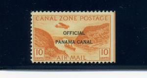Canal Zone Scott #CO9 Type II (17mm Overprint) **RARE** MINT Stamp w/APS Cert!!!
