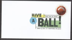 US 5203 Have a Ball Football DCP FDC 2017