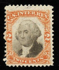B430 U.S. Revenue Scott R135 3rd issue 2c orange & black, uncancelled