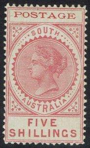 SOUTH AUSTRALIA 1902 QV THIN POSTAGE 5/-