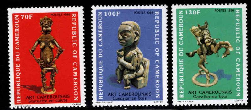 Cameroun Scott 812-814 MNH** 1986 Art set