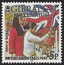Gibraltar # 841h - Millenium - Admiral Rooke - MNH