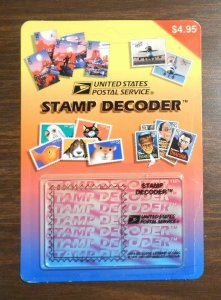 1997 Stamp Decoder device USPS hidden stamp images NIP New!