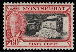 MONTSERRAT GVI SG132, 60c black & carmine, M MINT. Cat £11.