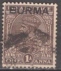 Burma; 1937: Sc. # 4: O/Used Single Stamp