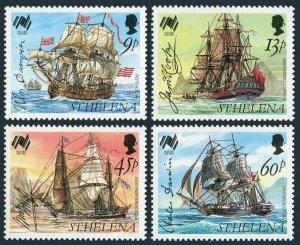 St Helena 493-496,MNH.Michel 483-486. Australia-200,1988.Ships,Signatures.