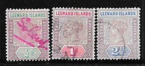 Leeward Islands #1-3 Queen Victoria (U) CV $1.95