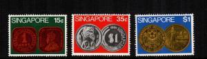singapore 150 - 152  MNH cat $ 8.50