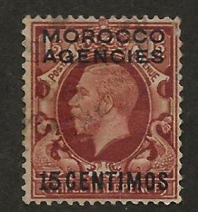 GREAT BRITAIN OFFICES - MOROCCO SC# 73  FVF/U 1935