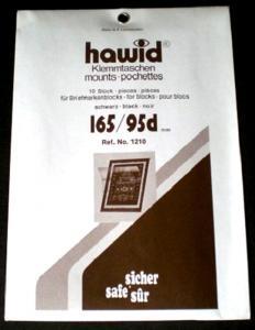 Hawid Stamp Mounts Size 165 / 95d BLACK Background Pack of 10