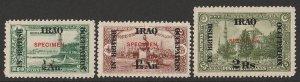 IRAQ : 1918 In British Occupation set ½a on 10pa - 2R/25Pi SPECIMEN. MNH **.