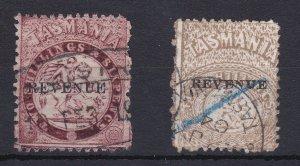 T101) Tasmania Postal Fiscals 1900 St George overprinted 'REVENUE'