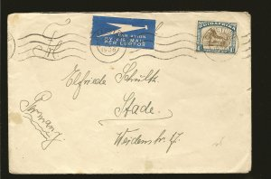 South Africa 62 on Postmarked 1936 Capetown Airmail Cover Used