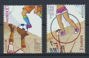 [BEL48] Belgium 2015 Children Games good set of stamps very fine MNH
