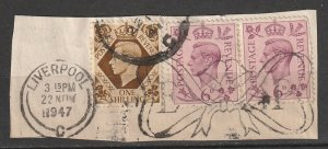 #243,248 Great Britain on paper cancel