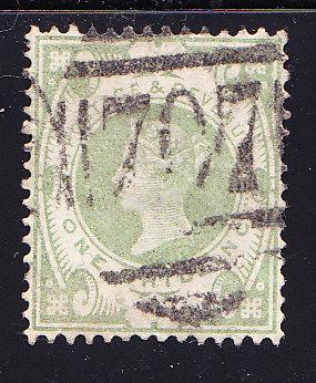 Great Britain 1887 QV 1sh.green Jubilee F/VF/Used(o)
