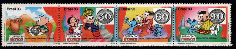 Brazil Scott 2415 MNH** Strip set 1993