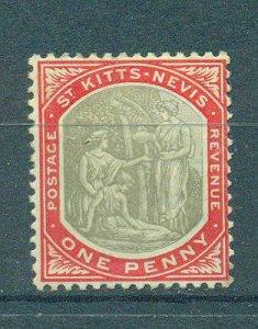 St. Kitts & Nevis sc# 2 (2) mh cat value $5.25