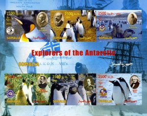 Somalia 2004 EXPLORERS OF THE ANTARCTIC Penguins Sheet Imperforated Mint (NH)