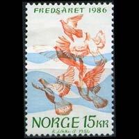 NORWAY 1986 - Scott# 902 Intl.Peace Year Set of 1 NH