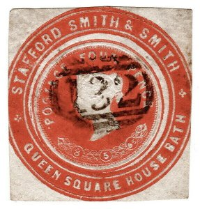 (I.B) QV Postal : Newspaper Wrapper - Stafford Smith 4d (Advertising Ring)