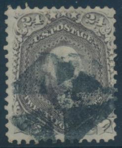 #78 24c 1861 WITH FANCY GEOMETRIC CANCEL CV $350+ BU8471