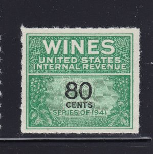RE142 XF Wine revenue stamp unused with nice color cv $ 350 ! see pic !