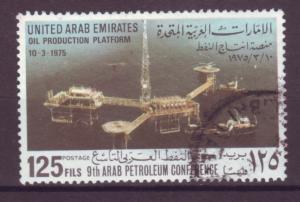 J20788 Jlstamps 1975 uae hv of set used #46 oil platform