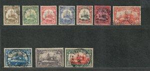 German Colony Kiauchau Sc#33-42 Used/VF, High Values Bothe BPP Signed, Cv. $908